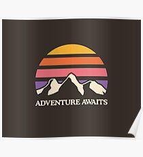 Adventure Awaits | Mountain Sun Poster
