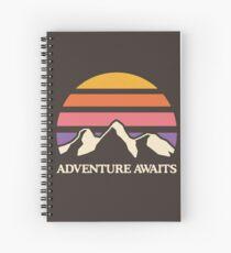 Adventure Awaits | Mountain Sun Spiral Notebook