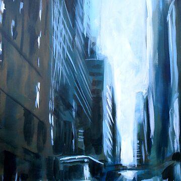 Midtown New York Abstract Realism by SamDurkin
