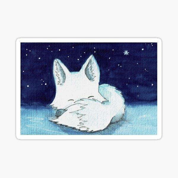 weißer Fuchs Sticker