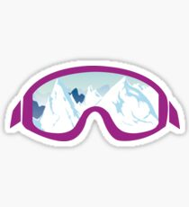 Ski Goggle Mountain Icon Sticker