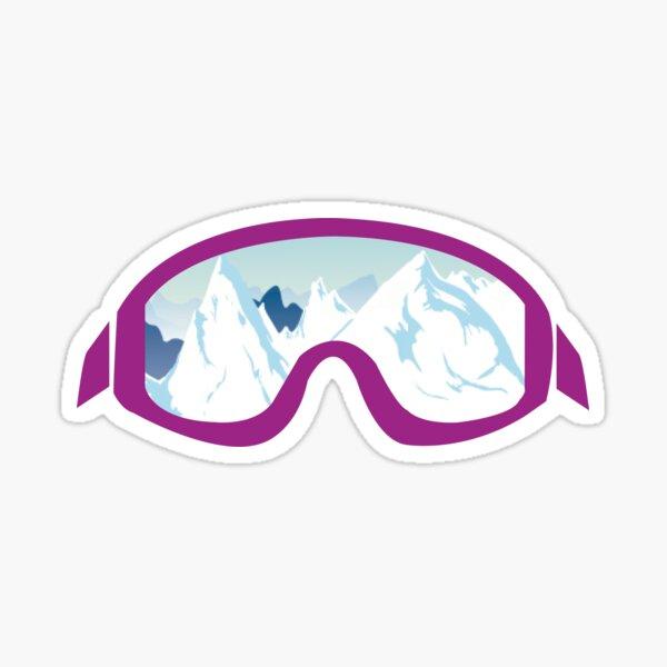 Ski Goggle Mountain Icon Sticker