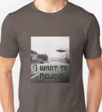 UFO Design - I Want To Believe T-Shirt