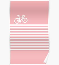 Baby Pink Bike with Stripes Poster