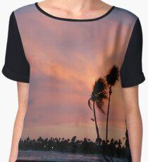 Tropical sunset Women's Chiffon Top