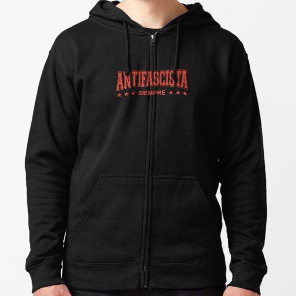 FELPA ANTIFA gegen nazi anti rossa con cappuccio e tasca rebel hoodie maglia