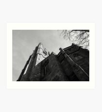 St Marys in Black and white Art Print