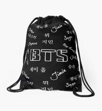 BTS Group (Black) Drawstring Bag