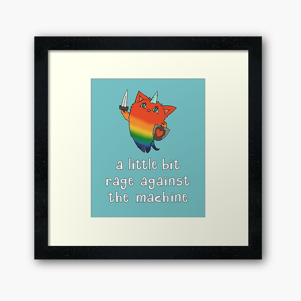 Little Bit Rage Kitty Framed Art Print