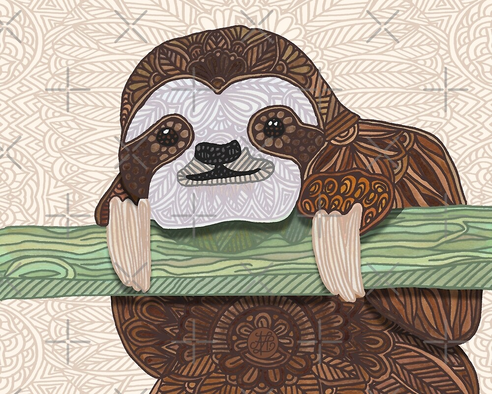 It's a sloth kind of day  by artlovepassion