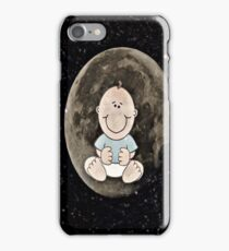 Baby in the moon  iPhone Case/Skin