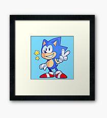 Classic Sonic the Hedgehog Framed Print