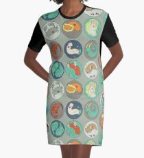 Zodiac Pattern Graphic T-Shirt Dress