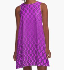 Seamless wire fence violet pattern A-Line Dress