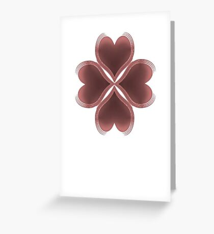 Lucky in Love Red Shamrock Clover Greeting Card