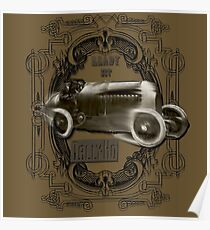 Vintage motorcar design by MotorManiac Poster