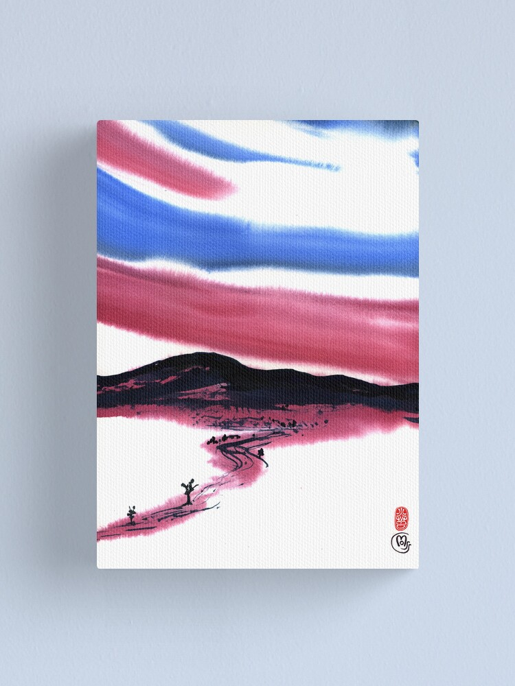 Alternate view of red sky in the morning Canvas Print