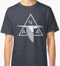Camiseta clásica North American Aviation (NAA) Vintage Logo | Blanco apenado
