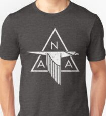 North American Aviation (NAA) Vintage Logo   Distressed White T-Shirt