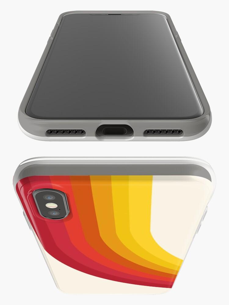 Alternate view of 4-Sho - retro 70s style throwback vibes 1970's trendy decor art minimalist rainbow stripes iPhone Case & Cover