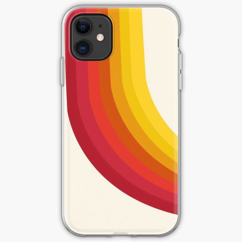 4-Sho - retro 70s style throwback vibes 1970's trendy decor art minimalist rainbow stripes iPhone Case & Cover