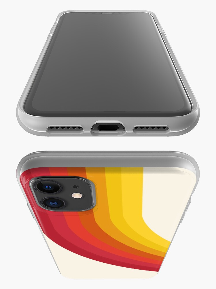 Alternate view of 4-Sho - retro 70s style throwback vibes 1970's trendy decor art minimalist rainbow stripes iPhone Case & Cover