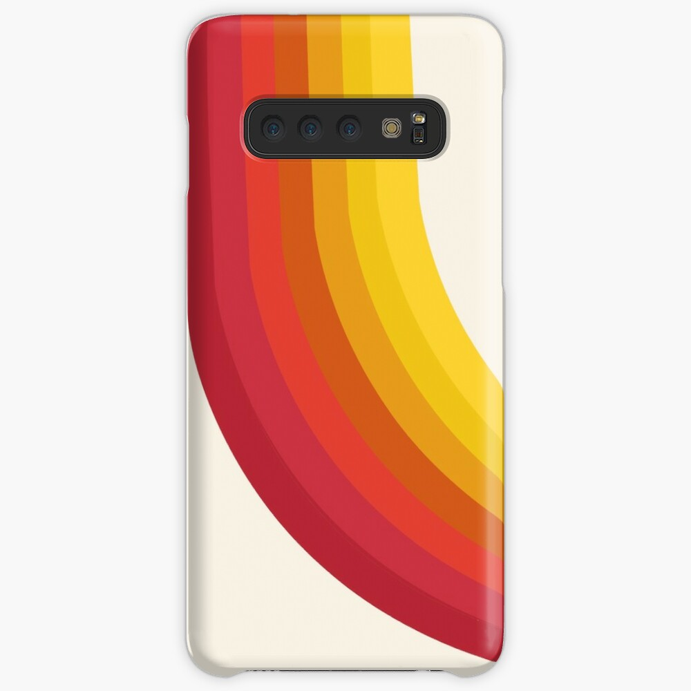 4-Sho - retro 70s style throwback vibes 1970's trendy decor art minimalist rainbow stripes Case & Skin for Samsung Galaxy