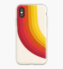 Vinilo o funda para iPhone 4-Sho: estilo retro de los años 70, retroceso, vibraciones, 1970, estilo moderno, decoración, arte, minimalista, arco iris, rayas