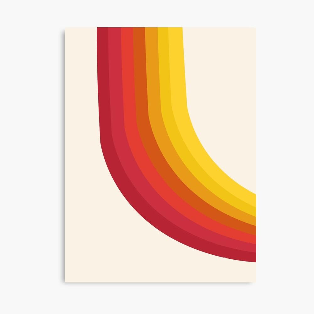 4-Sho - retro 70s style throwback vibes 1970's trendy decor art minimalist rainbow stripes Canvas Print