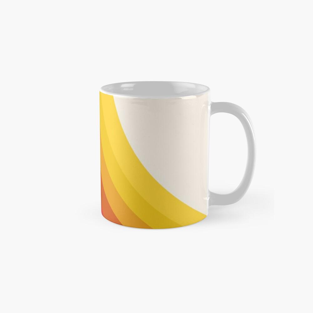 4-Sho - retro 70s style throwback vibes 1970's trendy decor art minimalist rainbow stripes Mug