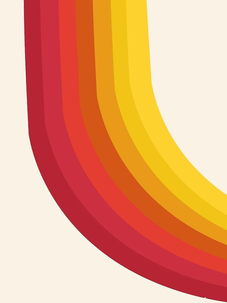 4-Sho - retro 70s style throwback vibes 1970's trendy decor art minimalist rainbow stripes by 78designs