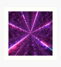 Purple Tunnel Art Print