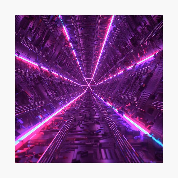 Purple Tunnel Photographic Print