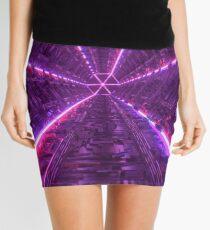 Purple Tunnel Mini Skirt
