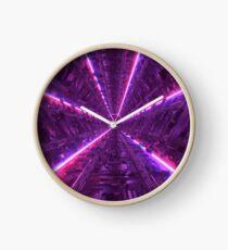 Purple Tunnel Clock