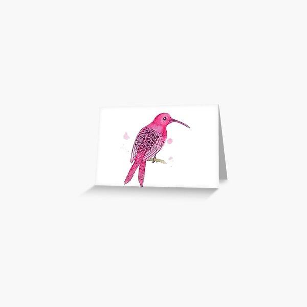 Motionless Magenta Hummingbird Greeting Card