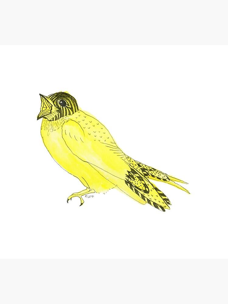 Yellow Soprano Swallow by lindaursin