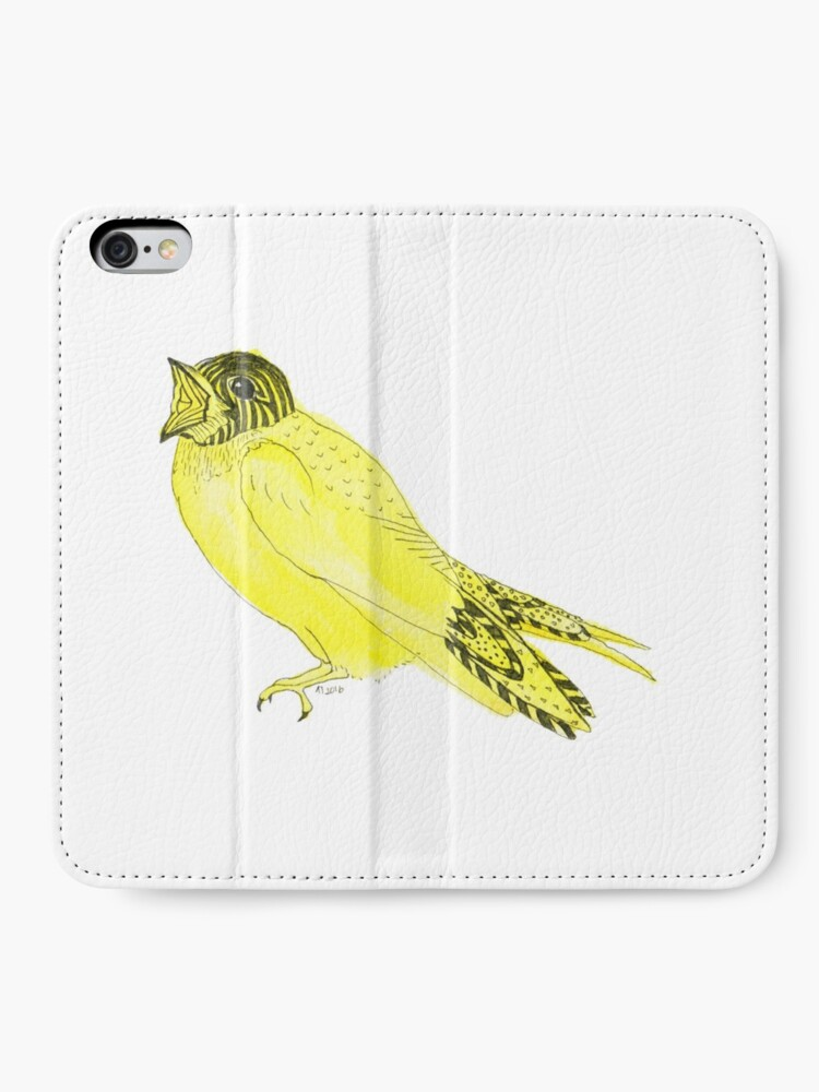 Alternate view of Yellow Soprano Swallow iPhone Wallet