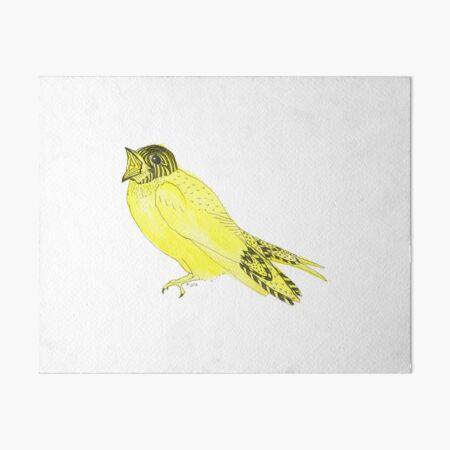 Yellow Soprano Swallow Art Board Print