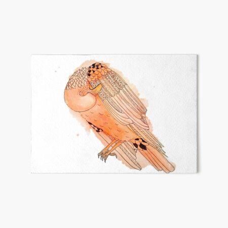 Vain Raven in Orange Art Board Print