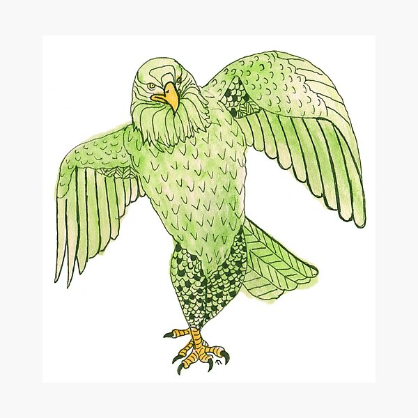 Strutting Eagle in Green Photographic Print