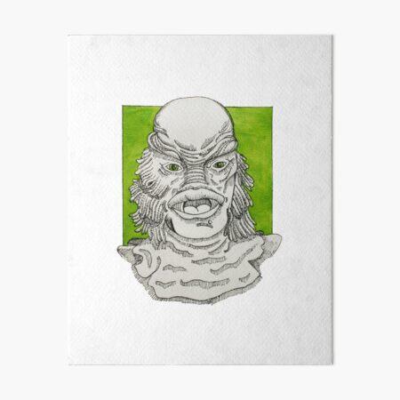 Black Lagoon Creature Fan Art Art Board Print