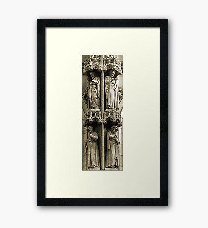 Town Hall: detail, Leuven, Belgium Framed Print