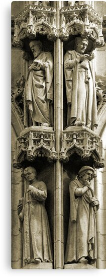 Town Hall: detail, Leuven, Belgium by Lenka