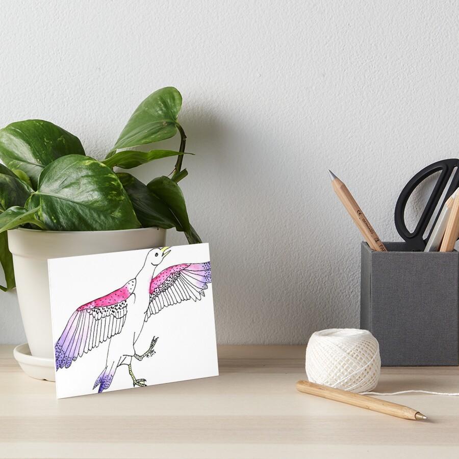 Stylish Spotted Seagull Art Board Print