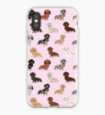Dachshund dog breed pet pattern pet portrait doxie gifts iPhone Case