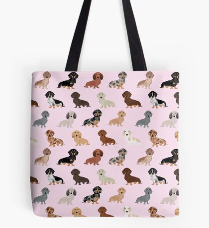Dachshund dog breed pet pattern pet portrait doxie gifts Tote Bag