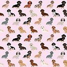 Dachshund dog breed pet pattern pet portrait doxie gifts by PetFriendly