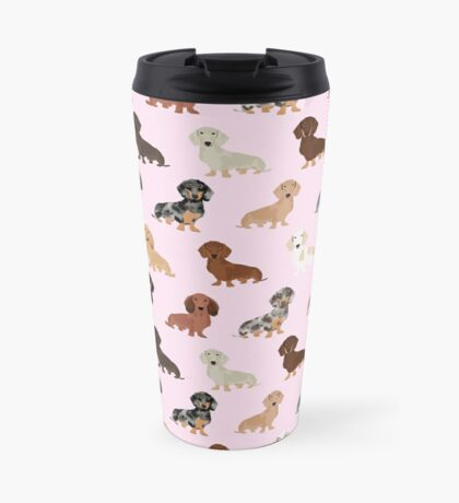 Dachshund dog breed pet pattern pet portrait doxie gifts Travel Mug