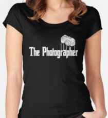 Funny The Photographer Photography Camera Women's Fitted Scoop T-Shirt